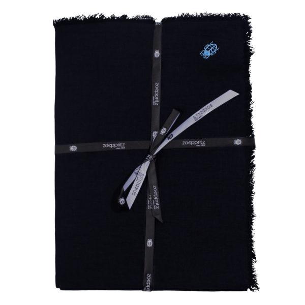 zoeppritz Stay Tischdecke, Farbe dunkelblau, Material Leinen in Groesse 145x250
