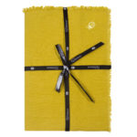 zoeppritz Stay Tischdecke, Farbe curry-gelb, Material Leinen in Groesse 145x250