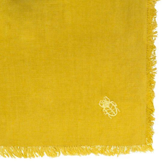 zoeppritz Stay Tischdecke, Farbe curry-gelb, Material Leinen in Groesse 130x170