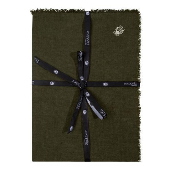 zoeppritz Stay Tischdecke, Farbe dunkelgruen, Material Leinen in Groesse 130x170