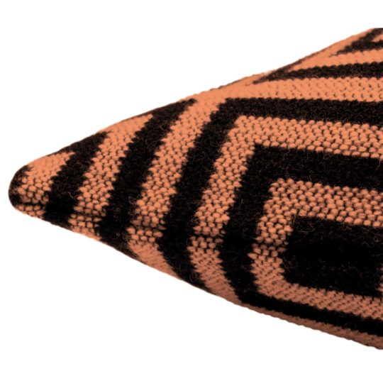 zoeppritz Legacy Kissenhuelle, Farbe orange, Material Schurwolle Merino Cashmere, in Groesse 40x40