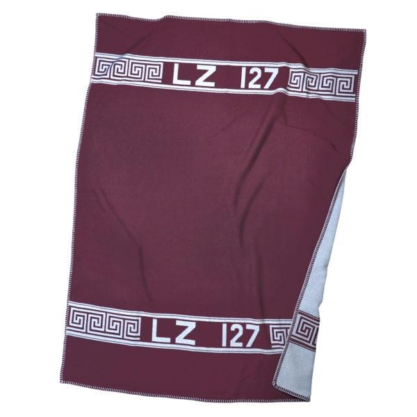 zoeppritz Hero Decke, Farbe weinrot, Material Schurwolle Merino Cashmere in Groesse 140x190