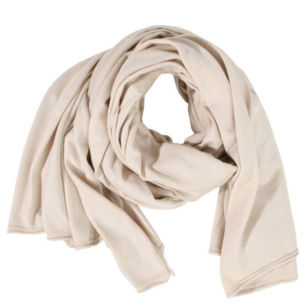 zoeppritz Forever Schal, Farbe weiss, Material Seide Cashmere in Groesse 70x200