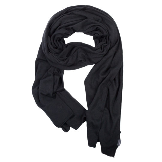 zoeppritz Forever Schal, Farbe schwarz, Material Seide Cashmere in Groesse 70x200