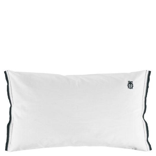 zoeppritz White Kissenbezug, Farbe weiss mit schwarz, Material Baumwolle Perkal in Groesse 40x80