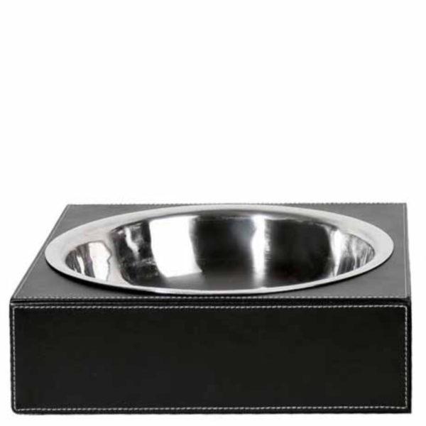 zoeppritz Shipshape Box Hundenapf schwarz, Material MDF Kunstleder