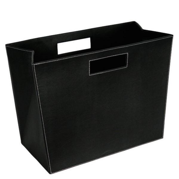 zoeppritz Shipshape Magazin Box schwarz, Material MDF Kunstleder