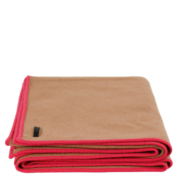 zoeppritz Edition 15/01 Decke, Farbe braun rot, Material Cashmere in Groesse 150x200