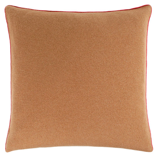 zoeppritz Edition 15/02 Kissenhuelle, Farbe braun, Material Cashmere in Groesse 50x50