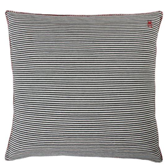 zoeppritz Darling Kissenhuelle, Farbe schwarz-weiss-gestreift, Material Baumwolle in Groesse 40x40