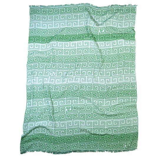 zoeppritz Leg Decke, Farbe gruen, Material Baumwolle, in Groesse 145x190