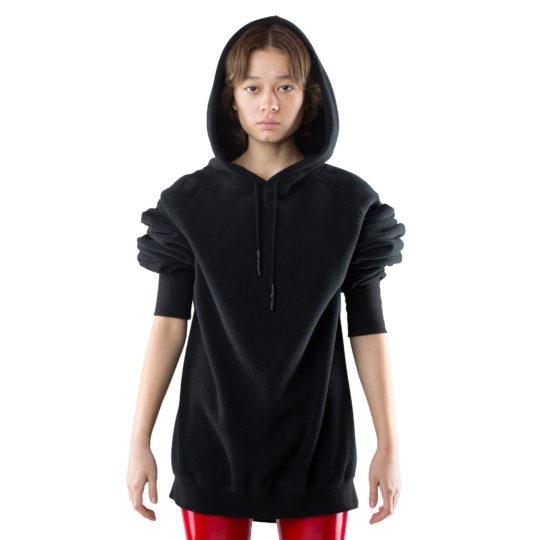 zoeppritz Soft Hoodie, Farbe schwarz, Material Fleece in Groesse S