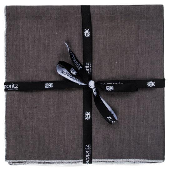 zoeppritz Stay Serviette, Farbe anthrazit, Material Leinen in Groesse 40x40