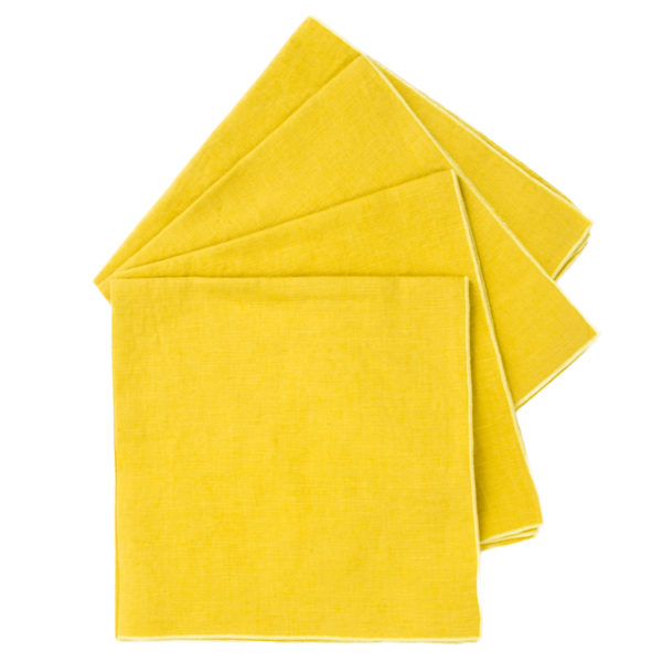 zoeppritz Stay Serviette, Farbe curry-gelb, Material Leinen in Groesse 40x40