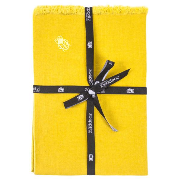 zoeppritz Stay Tischset Platzdecke, Farbe curry-gelb, Material Leinen in Groesse 35x50