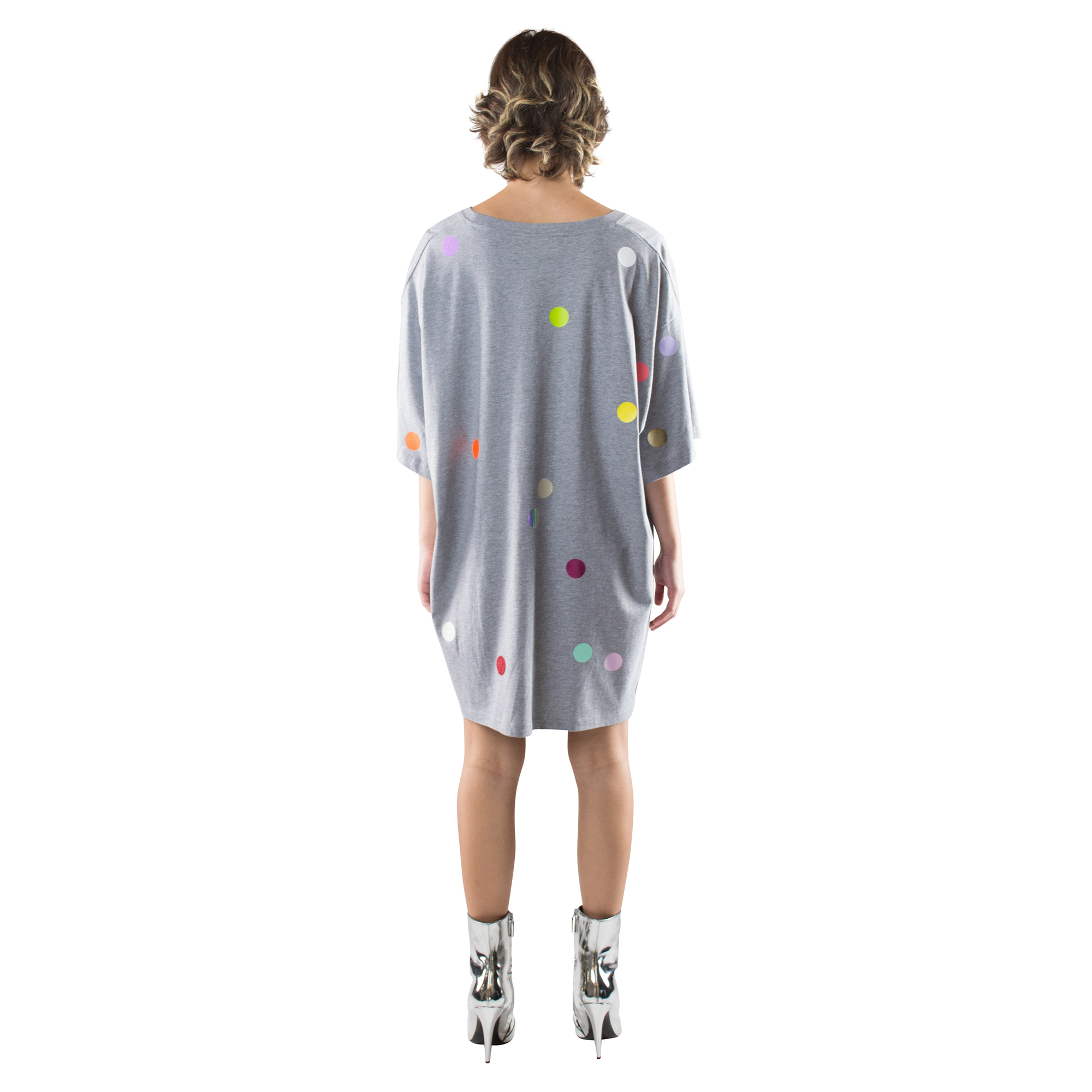 starstyling zoeppritz points bigshirt, Farbe grau, Material Baumwolle in Groesse 4XL