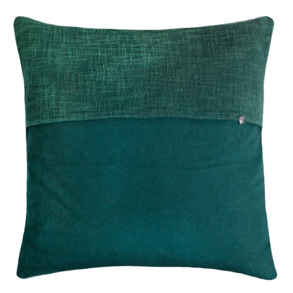 zoeppritz Plus Kissenhuelle, Farbe dunkelgruen, Material Baumwolle Leinen in Groesse 50x50