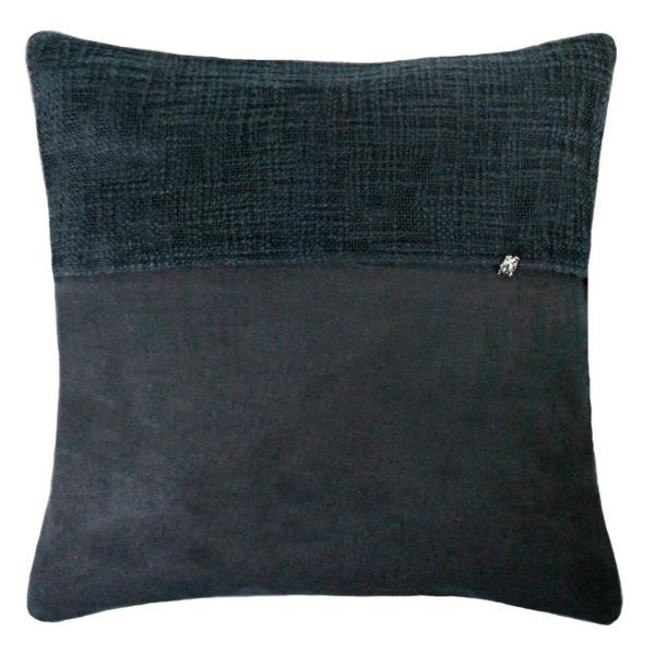 zoeppritz Plus Kissenhuelle, Farbe schwarz, Material Baumwolle Leinen in Groesse 50x50
