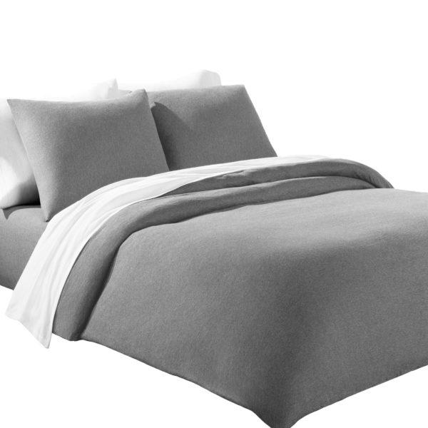 Calvin Klein Home Bettgarnitur Set Bettdecke Kopfkissen HARRISON, Material Baumwolle Modal, grau