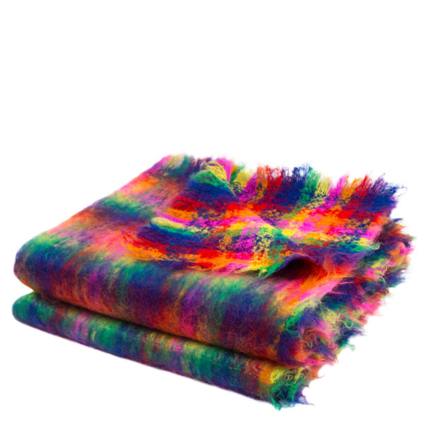 Zoeppritz Mohair Plaid 331 Raincheck, bunt, Material Mohair in Groesse 135x200