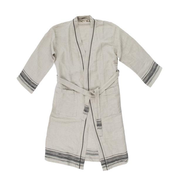 Mantel aus Leinen, Stripy, Material Leinen Baumwolle, schwarz
