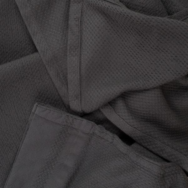 Baumwolldecke, Pique, Material Baumwolle , dunkelgrau