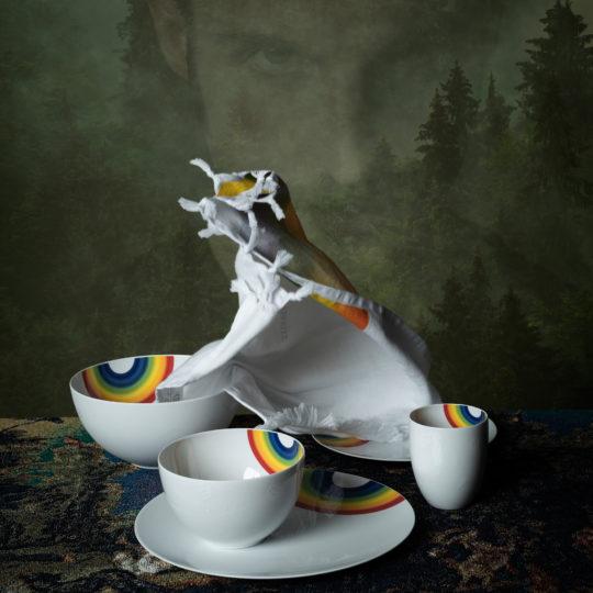 zoeppritz 331 Bowl Schuessel, weiss, Material Porzellan, Durchmesser 19 cm