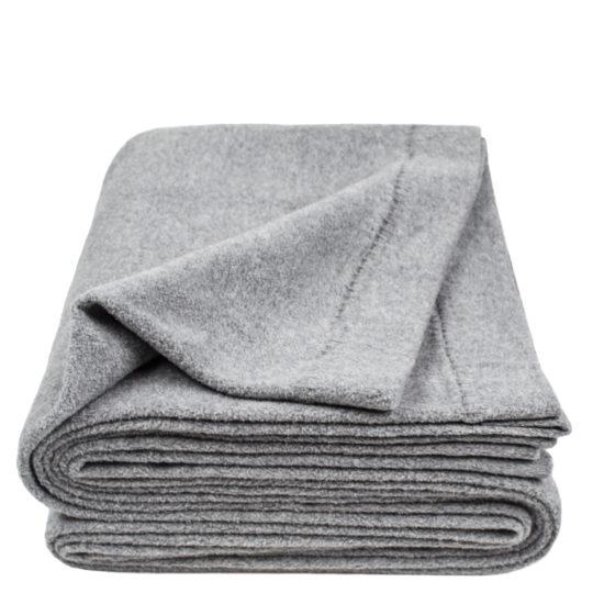 zoeppritz Soft-Greeny weiche Decke, Farbe grau, Material GOTS Bio-Baumwolle in Groesse 140x190