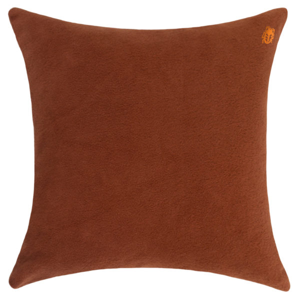 zoeppritz Soft-Greeny weicher Kissenbezug Farbe rostrot, Material GOTS Bio-Baumwolle in Groesse 50x50