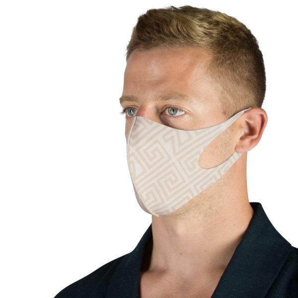 Stoffmaske wiederverwendbar Responsibility, Material Polyester Elasthan, hellbraun-beige