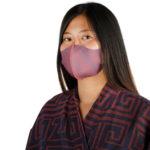 Stoffmaske wiederverwendbar Responsibility, Material Polyester Elasthan, orangerot-blau