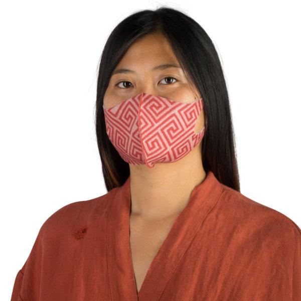 Stoffmaske wiederverwendbar Responsibility, Material Polyester Elasthan, rotorange-beige