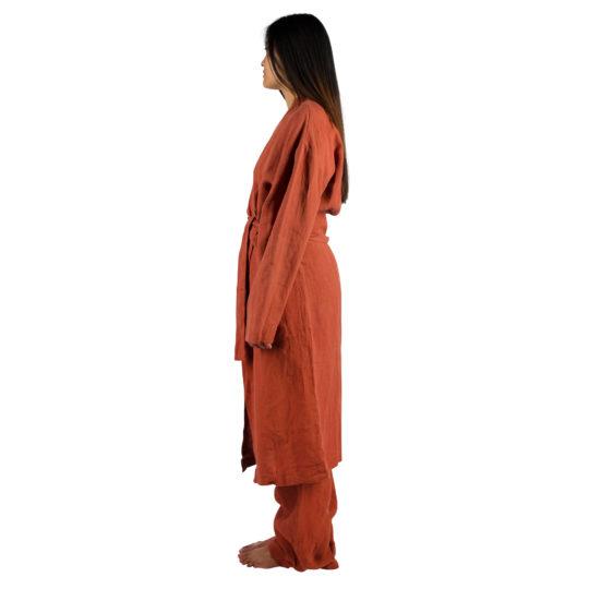 Coat for women and men in S-M, rust, linen, zoeppritz Stay