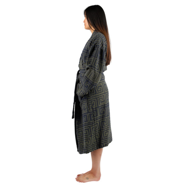 Bathrobe for women and men in S-M, huntergreen, cotton, zoeppritz Sunny Leg
