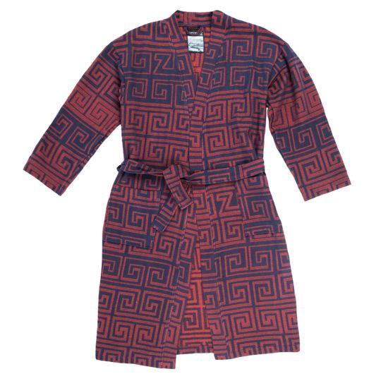 Bathrobe for women and men in S-M, brick, cotton, zoeppritz Sunny Leg