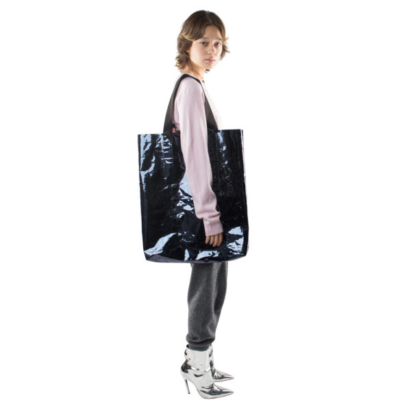 Big Bag, black polyester, zoeppritz Foilshopper Glossy Xlarge Bag