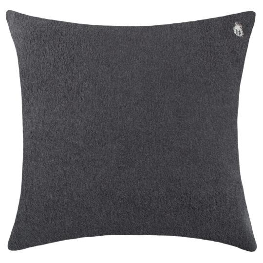 Kissenbezug anthrazit aus Bio-Baumwolle, 50x50cm, zoeppritz Soft-Greeny