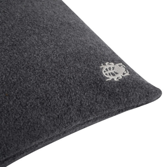 Kissenbezug anthrazit aus Bio-Baumwolle, 30x50cm, zoeppritz Soft-Greeny