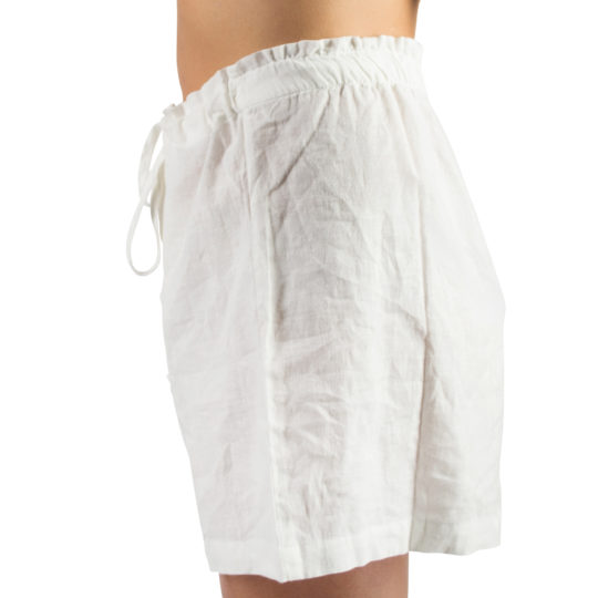 Shorts for women and men in S-M, white, linen and cotton, zoeppritz Shorty