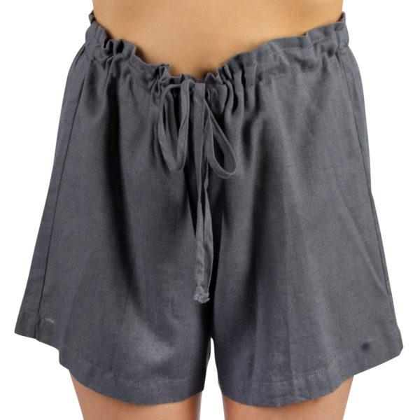 Shorts fuer Damen und Herren in S-M, dunkelgrau aus Leinen und Baumwolle, zoeppritz Shorty