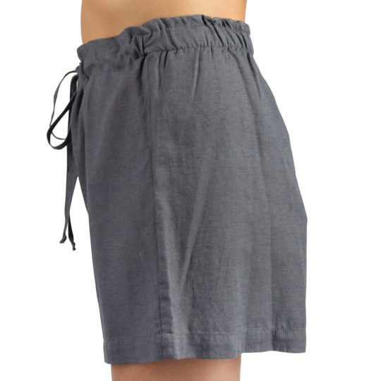 Shorts for women and men in S-M, charcoal, linen and cotton, zoeppritz Shorty