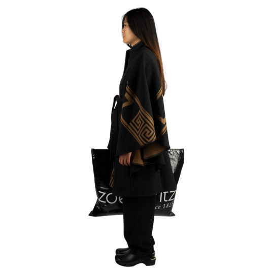 Coat for women in black-toffeebrown, cashmere and merinowool in s, zoeppritz The Heroine