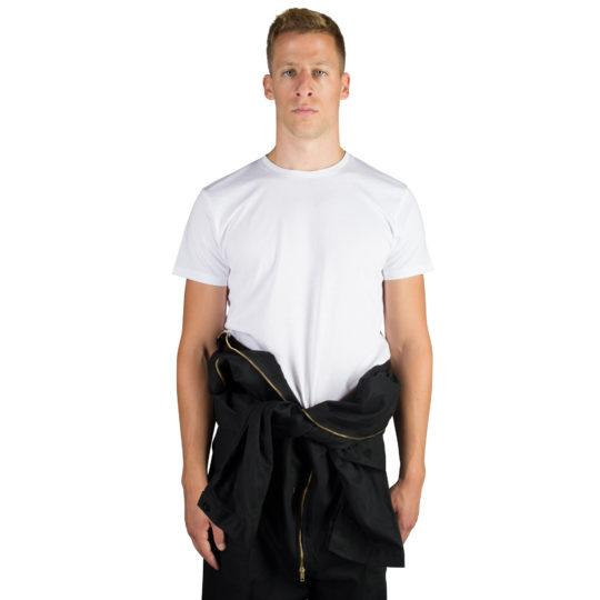 T-Shirt fuer Herren und Damen in weiss, Bio-Baumwolle in XL, zoeppritz Homage to H