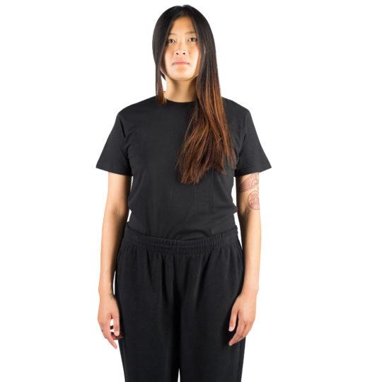 T-Shirt fuer Damen und Herren in schwarz, Bio-Baumwolle in M, zoeppritz Homage to H