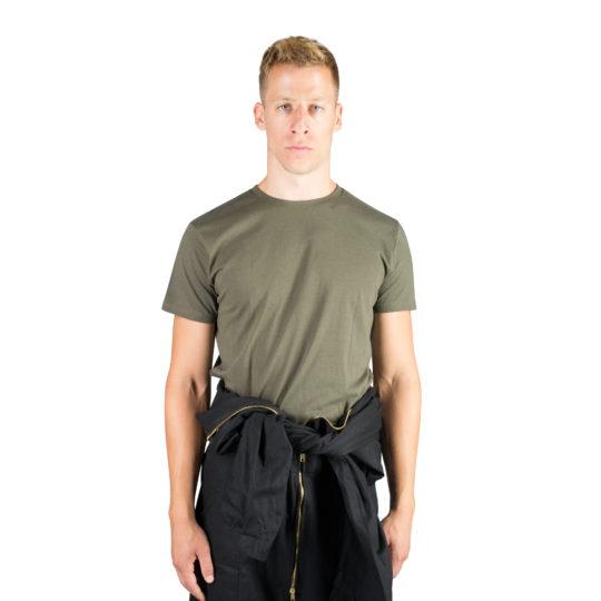 T-Shirt fuer Herren und Damen in gruen, Bio-Baumwolle in L, zoeppritz Homage to H