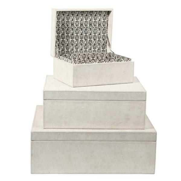 Aufbewahrungsbox mit Deckel in creme, Baumwolle-Bezug in 22x16x10cm, zoeppritz Booty Box