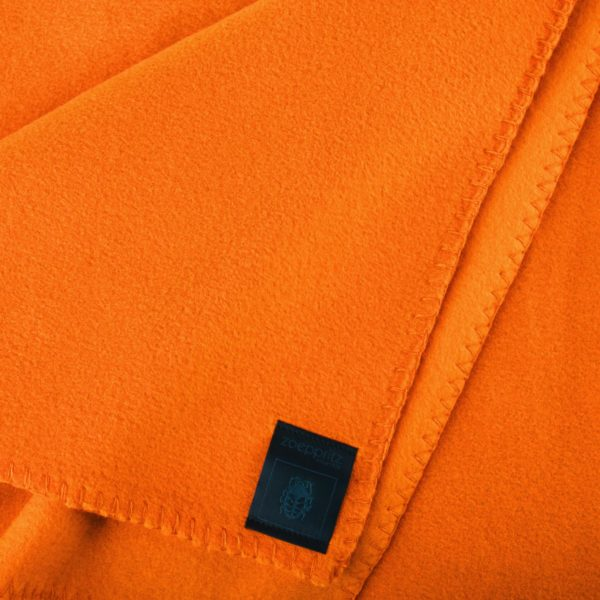 Blanket 160x200cm in orange, zoeppritz Soft-Fleece
