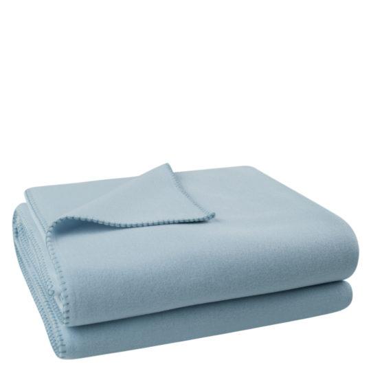 Flauschige Decke fuer Sofa und Couch, hellblau in 160x200cm, zoeppritz Soft-Fleece