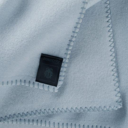 Blanket 160x200cm in light blue, zoeppritz Soft-Fleece