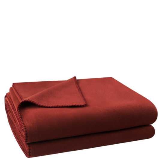 Flauschige Decke fuer Sofa und Couch, braun in 160x200cm, zoeppritz Soft-Fleece